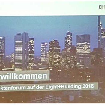 6. Architektenforum auf der Messe Light + Building...die vernetzte Architektur der Zukunft